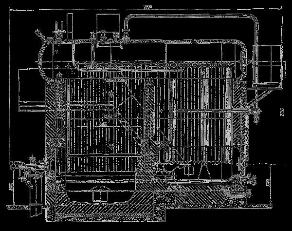 Общий вид котла ДКВр-20-13ГМ