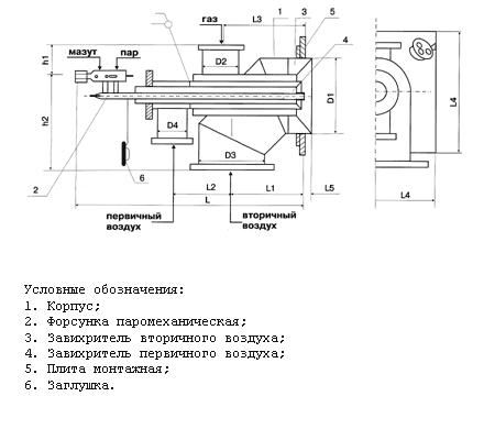 Распылитель для форсунки горелки гмг-5 5